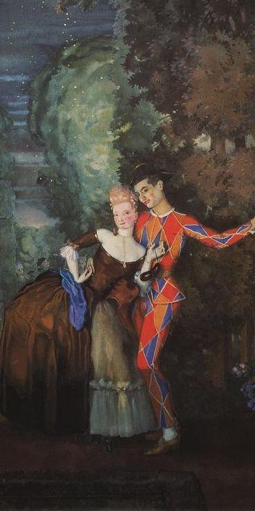 Арлекин и дама. 1912